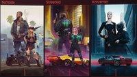 Cyberpunk 2077: Nomade, Streetkid oder Konzerner? Unterschiede der Lebenswege im Detail
