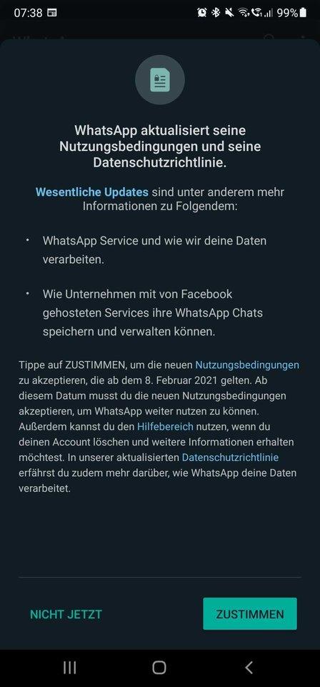 Whatsapp Warnung 2021