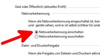 Netzwerkerkennung einschalten – so geht's