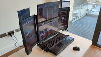 Ungewöhnliches Laptop: Mit sieben Displays gegen Langeweile im Home-Office