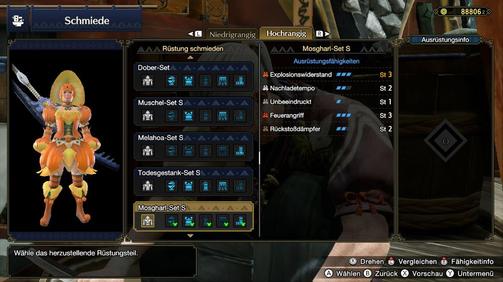 Monster Hunter Rise Mosgharl-Set Omegakürbis