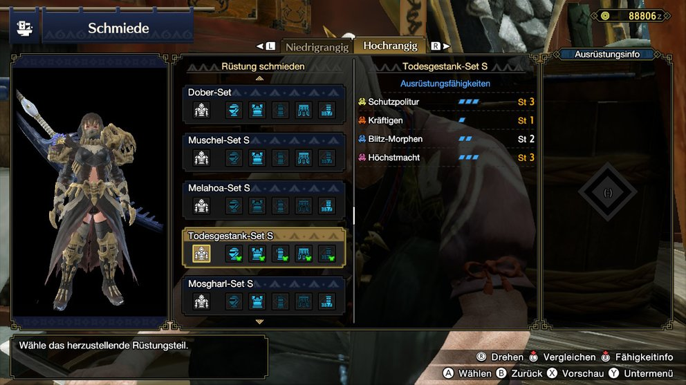 Monster Hunter Rise Todesgestand-Set Finsteres Dunkeluch