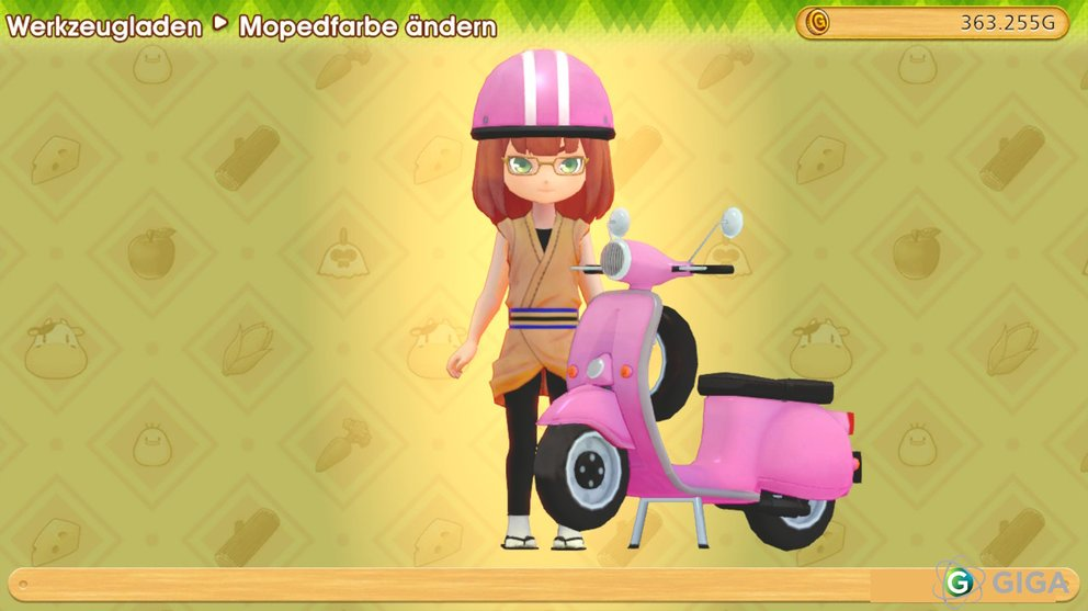 Das Moped in Pink