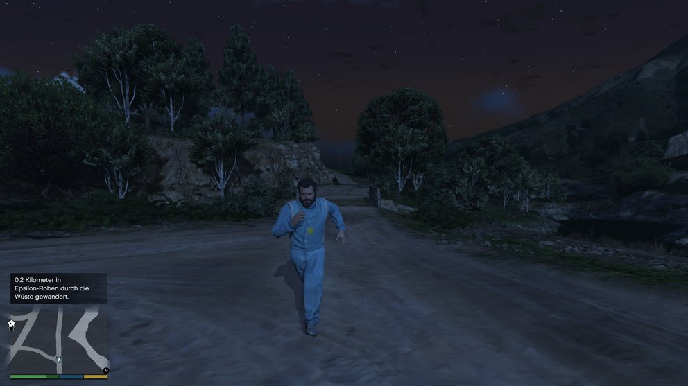 As Michael you can join the Epsilon sect in GTA 5. Kifflom!