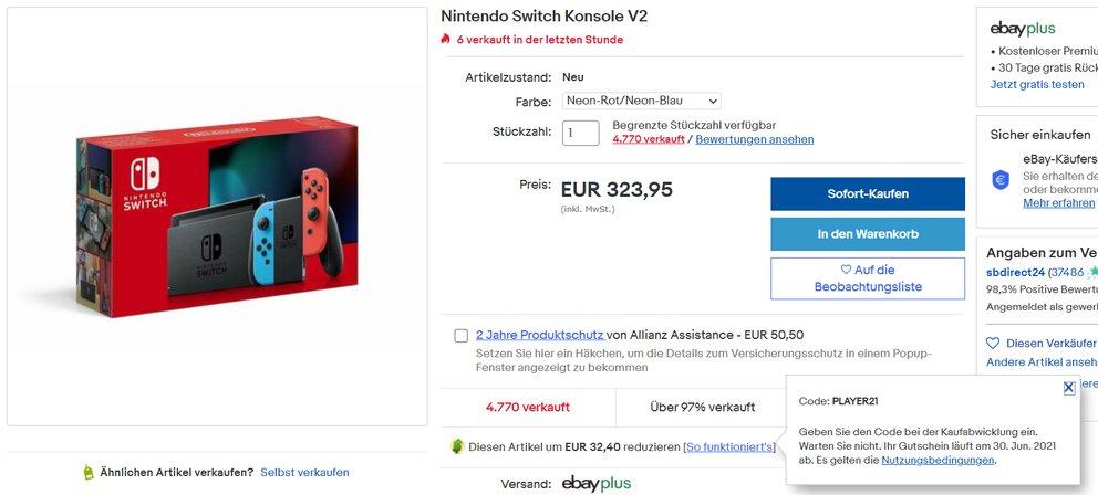Nintendo Switch im Preisverfall: Bestseller-Konsole ist endlich wieder günstig