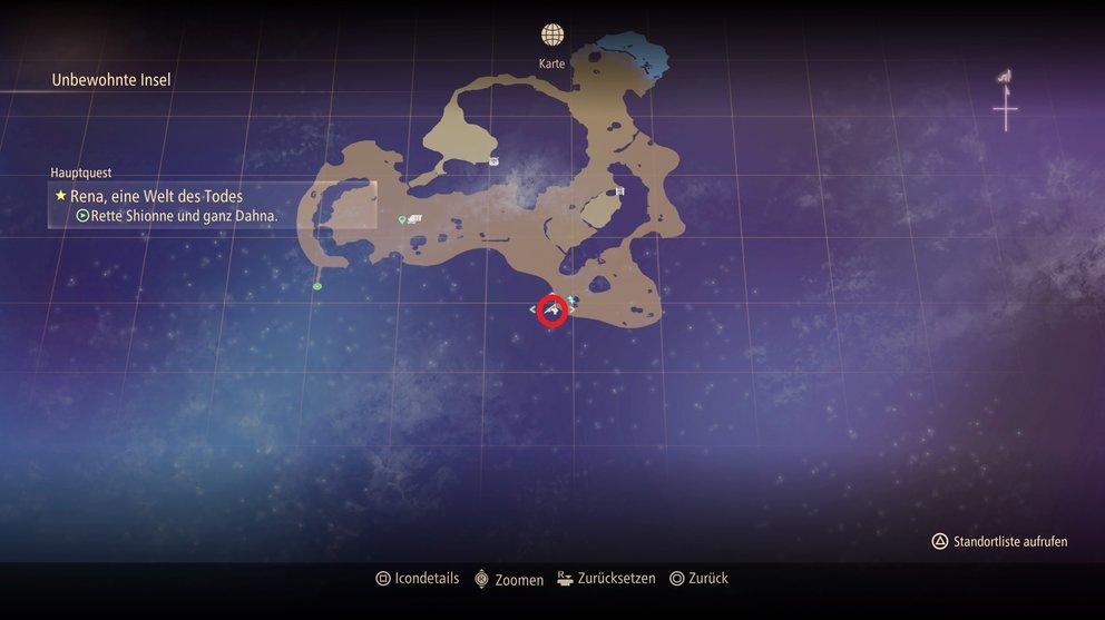 Angelplatz auf der unbewohnten Insel (Tales of Arise).