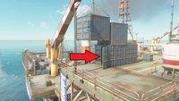 Far Cry 6: Bohrinsel-Kran bewegen und Container mit Waffenkiste öffnen