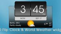 Schickes Uhrenwidget gratis: 3D Flip Clock & Weather Widget