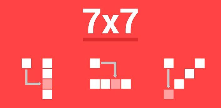 7x7: Kostenloser Klötzchen-Puzzler in schicker Holo-Optik