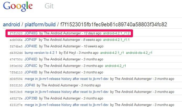 AOSP: Um Android-Version 4.2.1_r1.2 ergänzt