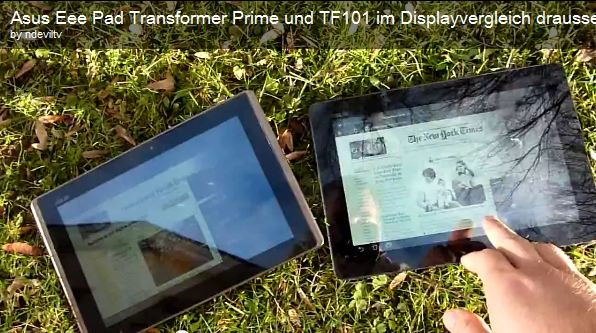 ASUS Transformer Prime: So schlägt sich das Tablet unter freiem Himmel [Video]