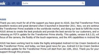 ASUS Transformer Prime: Bootloader Unlock-Tool kommt, ICS am 12. Januar