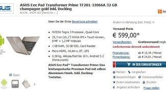 ASUS Eee Pad Transformer Prime: Bei Cyberport vorbestellbar [2. Update: Auch bei NBB und Amazon]
