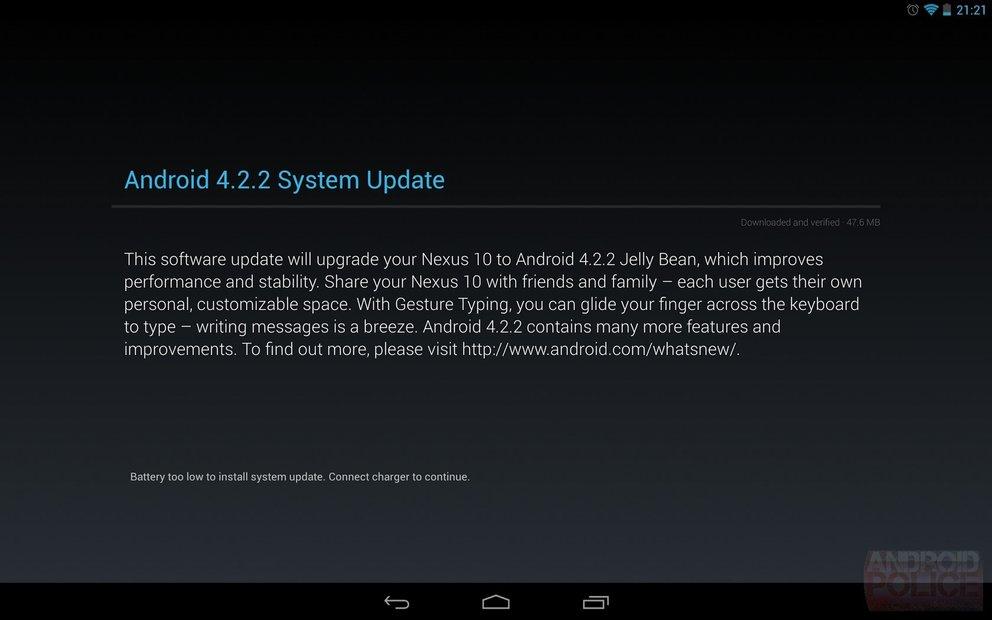 Android 4.2.2-Update: Galaxy Nexus, Nexus 7 und 10 werden versorgt