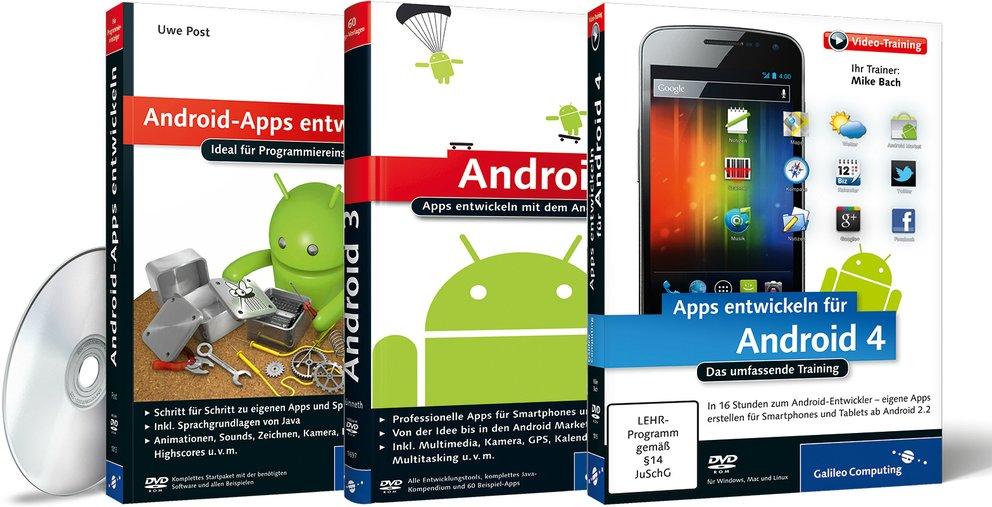 Android-Apps selbst entwickeln: Fachbücher und Video-Trainings von Galileo Press