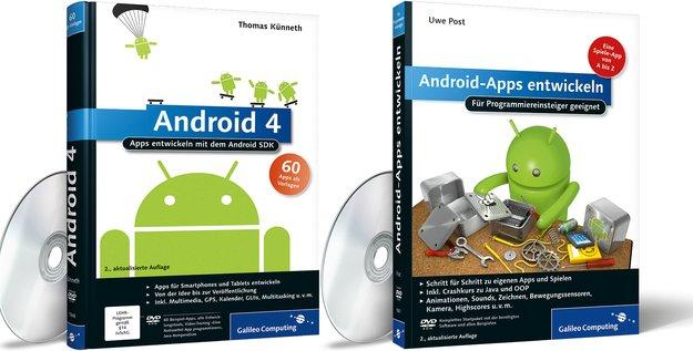 Androids-Apps programmieren: 10&nbsp&#x3B;Trainingsbücher von Galileo Press zu verlosen