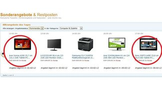 Sony Tablet S 3G und Acer Iconia Tab A200: Heute als Blitzdeal bei Amazon [Deals]