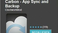 Carbon Backup: Finale Version im Play Store