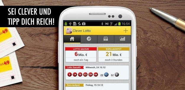 Clever Lotto: 6aus49 und Eurojackpot auf dem Smartphone knacken