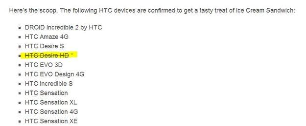 HTC Desire HD: ICS-Update nun doch gestrichen