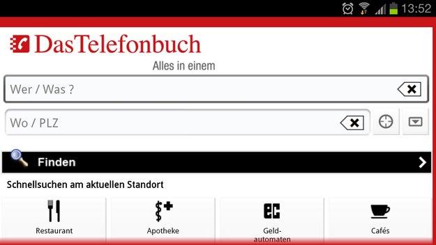 Das Telefonbuch: Nummern- und Adressverzeichnis als Android-App