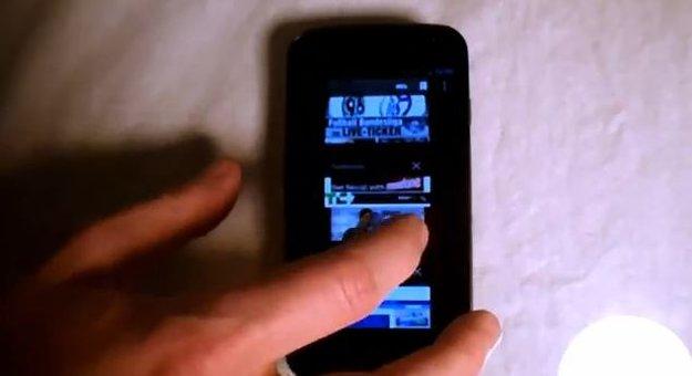 Galaxy Nexus: Kameratestvideo, Hands On-Clips zum Browser und zur LED-Benachrichtung