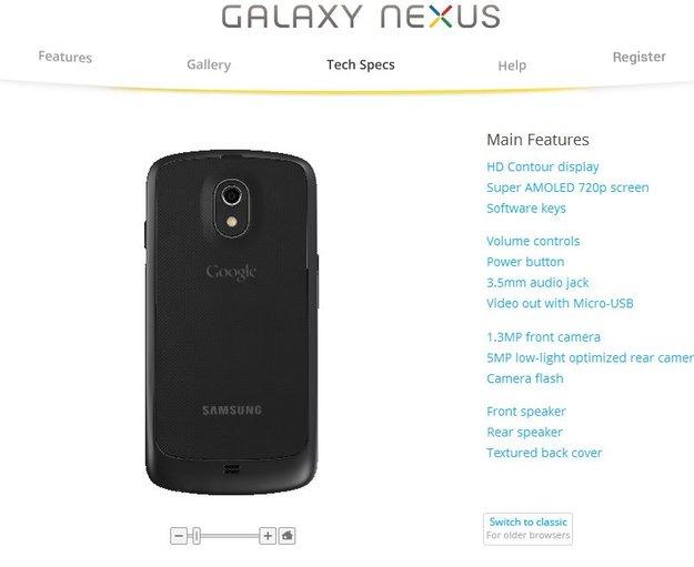 Galaxy Nexus: Google zeigt die etwas beleibtere LTE-Version