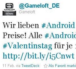 Games zum Valentins-Preis: Alle Gameloft Spiele vergünstigt