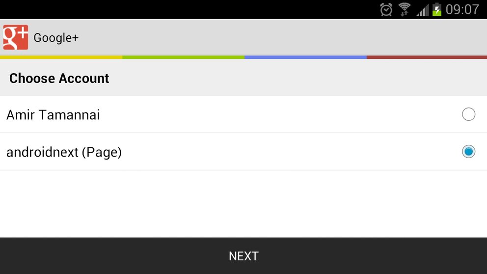 Google+: Update der Android-App bringt Seitenverwaltung (und einen Bug)