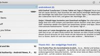 Google Reader: Update bringt Honeycomb-Unterstützung