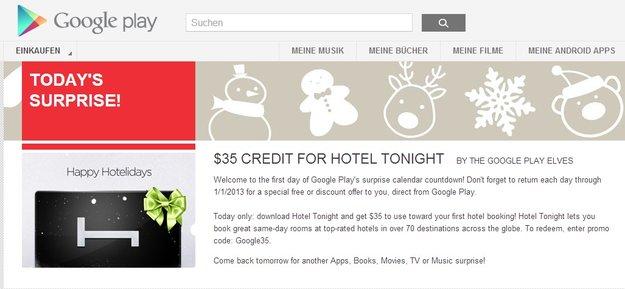 Play Store: Suprise-Aktion mit täglichen Spar-Angeboten gestartet