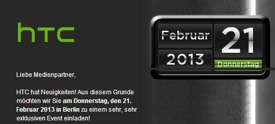 HTC M7: Deutschland-Vorstellung am 21. Februar in Berlin?