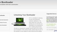 HTC Sensation: Bootloader kann offiziell freigeschaltet werden