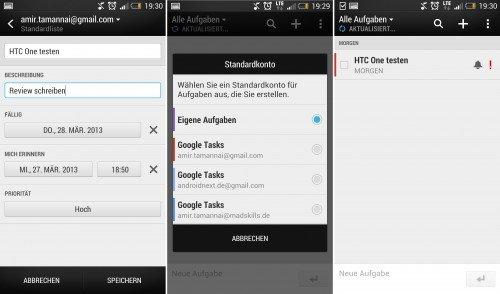 HTC-One-Aufgaben