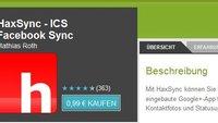 HaxSync: Facebook-Kontakte unter Android 4.0 Ice Cream Sandwich synchronisieren