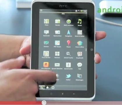 HTC Flyer: Erste Eindrücke im Video
