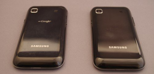 Samsung Galaxy S (links) vs. Samsung Galaxy S Plus (rechts)