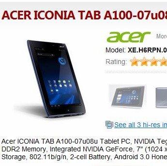 Acer Iconia Tab A100: In den USA für 329 Dollar vorbestellbar