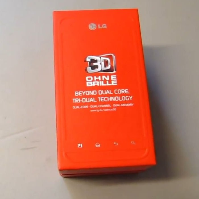 LG Optimus 3D: Unboxing-Video des 3D-Superphones
