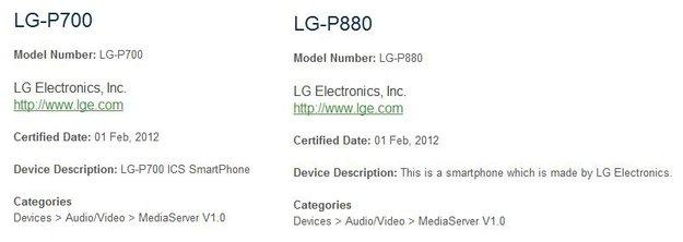 LG P880 und P700: Zwei neue Smartphones in den Startlöchern