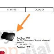 Lenovo Roadmap zeigt 7-Zoll-Honeycomb Tablet
