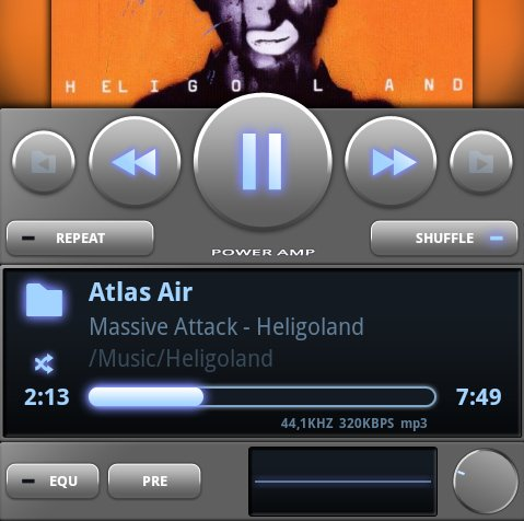 PowerAMP: MP3-Player-App für Vielhörer