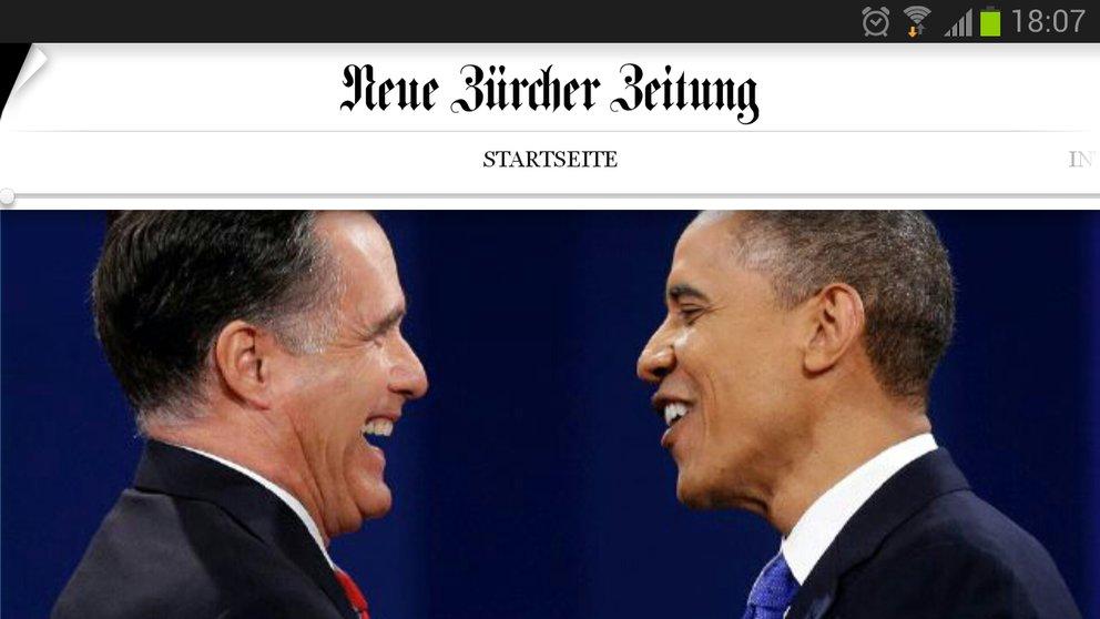 Neue Zürcher Zeitung: Ab sofort auch als App im Play Store