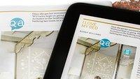 Nexus 10: Tablet-Illustrierte vs. Print-Ausgabe im Bildvergleich