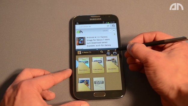 Samsung Galaxy Note 2: Multi-Window-Feature im Hands-On-Video