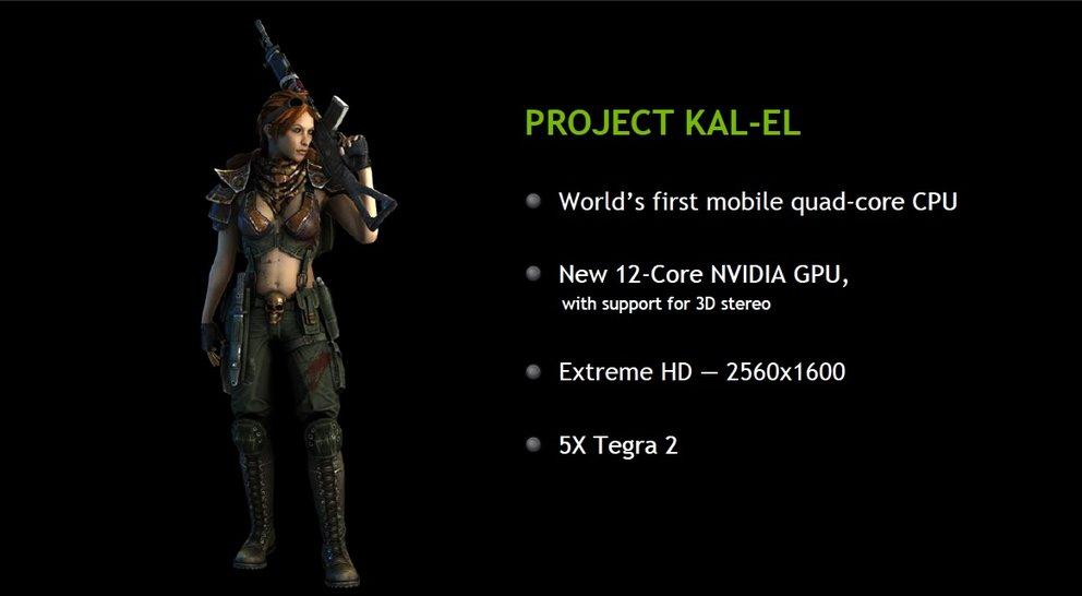 Nvidia Kal-El: 12 GPU-Kerne + vier CPUs = jede Menge Power [MWC 2011]