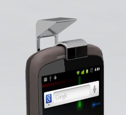 """Android-Videotelefonie: Aufsteckbare Front-""""Kamera"""" für ältere Smartphones"""