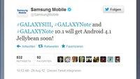 Samsung: Jelly Bean-Update für Galaxy Note, Note 10.1 und S3 in Kürze