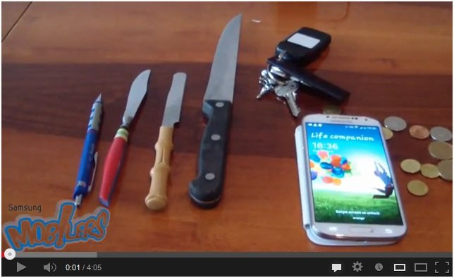 Samsung Galaxy S4: Gorilla Glass 3 besteht Kratztest [Video]
