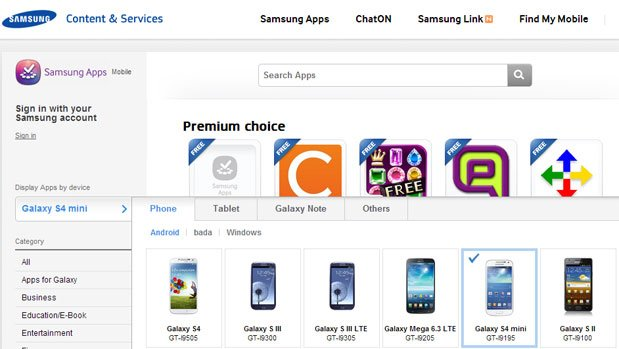Samsung Galaxy S4 mini, Mega 6.3: In Samsungs App-Store gesichtet